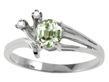 Tommaso Design™ Genuine Green Amethyst and Diamond Ring style: 301753