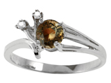 Tommaso Design™ Genuine Smoky Quartz and Diamond Ring style: 301756
