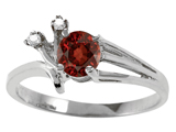 Tommaso Design™ Genuine Garnet and Diamond Ring style: 301758