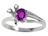 Tommaso Design™ Genuine Amethyst and Diamond Ring style: 301761