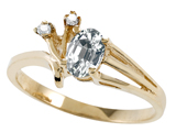 Tommaso Design™ Genuine White Topaz and Diamond Ring