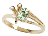 Tommaso Design™ Genuine Green Amethyst and Diamond Ring style: 301765