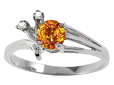 Tommaso Design™ Genuine Citrine and Diamond Ring style: 301766