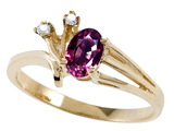 Tommaso Design™ Genuine Rhodolite and Diamond Ring style: 301769