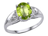 Tommaso Design™ Genuine Peridot and Diamond Ring style: 301803