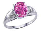 Tommaso Design™ Simulated Pink Topaz And Genuine Diamond Ring style: 301816