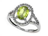 Tommaso Design™ Genuine Peridot and Diamond Ring style: 301923
