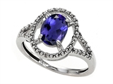 Tommaso Design™ Genuine Iolite and Diamond Ring