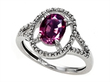 Tommaso Design™ Genuine Rhodolite and Diamond Ring style: 301931