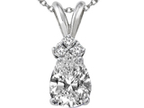 Tommaso Design Genuine White Topaz Pendant