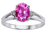 Tommaso Design™ Simulated Pink Topaz And Genuine Diamond Ring style: 302027