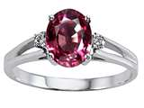 Tommaso Design™ Genuine Rhodolite and Diamond Ring style: 302031