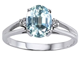 Tommaso Design™ Genuine Aquamarine and Diamond Ring style: 302035