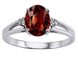Tommaso Design™ Genuine Garnet and Diamond Ring style: 302038