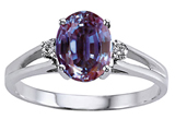 Tommaso Design™ Simulated Alexandrite And Genuine Diamond Ring style: 302040