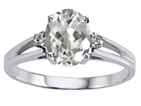 Tommaso Design™ Genuine White Topaz and Diamond Ring style: 302043