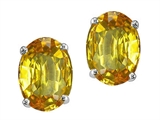 Tommaso Design Oval 7x5mm Genuine Citrine Earring Studs