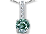 Original Star K Simulated Green Sapphire And Genuine Cubic Zirconia Pendant