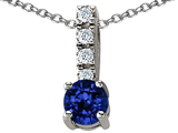 Original Star K Created Sapphire Pendant