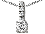 Original Star K™ Genuine White Topaz Pendant style: 302234