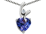 Original Star K™ Heart Shaped 8mm Simulated Tanzanite Pendant