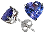 Original Star K 7mm Heart Simulated Tanzanite Earring Studs