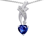 Original Star K™ 8mm Heart Shape Lab Created Sapphire Pendant