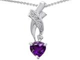 Original Star K™ 925 Genuine Heart Amethyst Pendant style: 302362