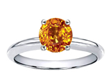 Tommaso Design™ Round 7mm Genuine Citrine Solitaire Engagement Ring
