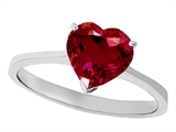 Tommaso Design Created Ruby Heart Shape 8mm Solitaire Engagement Ring