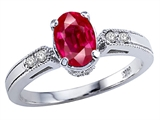 Tommaso Design™ Created Ruby and Diamond Ring