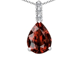 Tommaso Design™ Genuine Pear Shape Garnet and Diamond Pendant style: 302719
