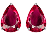 Original Star K Pear Shape 9x7mm Created Ruby Earring Studs