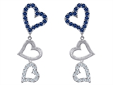 Original Star K™ Dangling Heart with Created Sapphire Heart Earrings