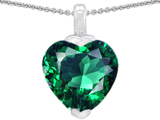 Original Star K™ 10mm Heart Shaped Simulated Emerald Pendant