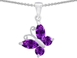 Original Star K™ Butterfly  Pendant Made with Genuine Amethyst style: 302950