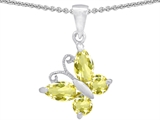 Original Star K™ Butterfly Pendant Made with Genuine Lemon Quartz