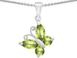 Original Star K Butterfly Pendant Made with Genuine Peridot