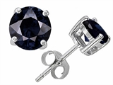 Original Star K Round 6mm GENUINE Sapphire Earring Studs