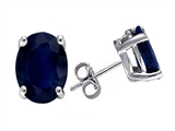 Original Star K Oval 7x5 GENUINE Sapphire Earring Studs
