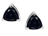 Original Star K Trillion 7mm GENUINE Sapphire Earring Studs
