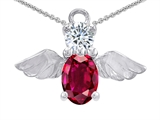 Original Star K™ Angel Of Love Protection Pendant Made With Oval 8x6mm Created Ruby