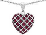Original Star K™ Created Ruby Puffed Heart Pendant style: 303273