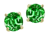 Original Star K Round 7mm Simulated Emerald Earring Studs