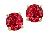 Original Star K™ Round 7mm Created Ruby Earring Studs