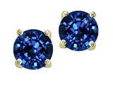 Original Star K Round 7mm Created Sapphire Earring Studs