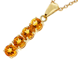 Tommaso Design™ 1inch long Genuine Citrine Straight Journey Pendant
