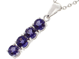 Tommaso Design™ 1inch long Genuine Iolite Straight Journey Pendant style: 303476