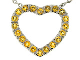 Tommaso Design Heart Shaped Pendant with Genuine Citrine