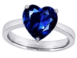 Original Star K™ Large 10mm Heart Shape Solitaire Engagement Ring with Created Sapphire